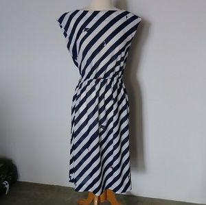 Vintage striped nautical dress